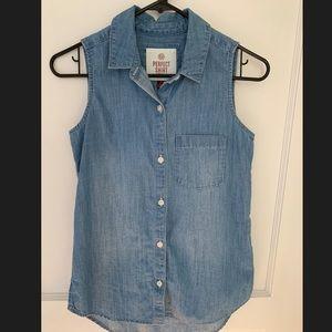 Women's Jean Shirt Button-up XS